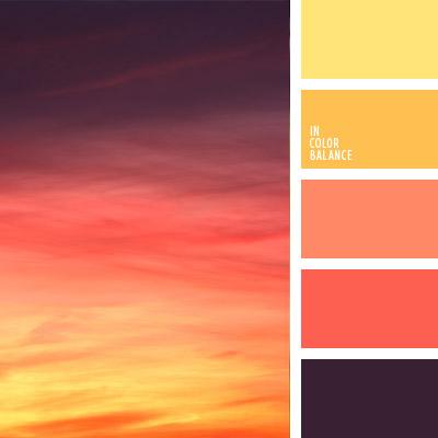 Оранжевый цвет палитра