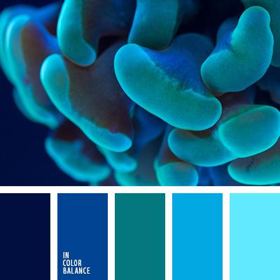 Изумрудно синий цвет